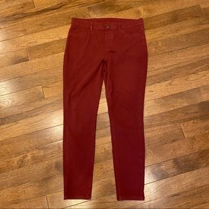UNIQLO MAROON STRETCH JEGGING PANTS